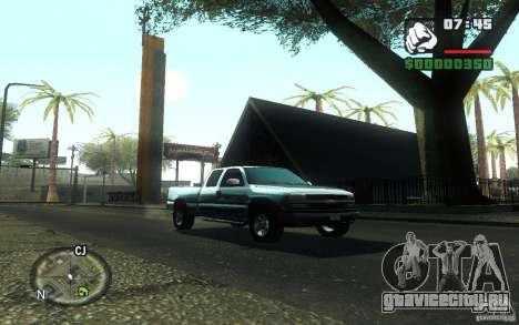 Chevrolet Silverado 2000 для GTA San Andreas вид справа