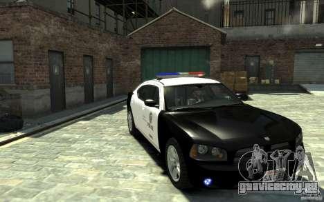 Dodge Charger LAPD V1.6 для GTA 4 вид сзади