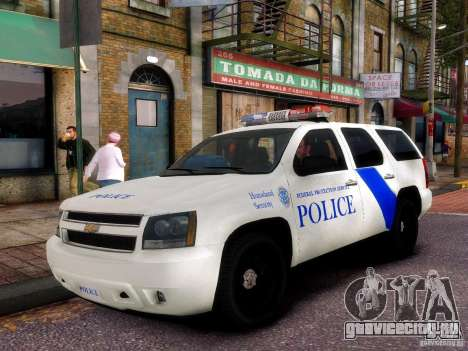 Chevrolet Tahoe New York Police для GTA 4 вид изнутри