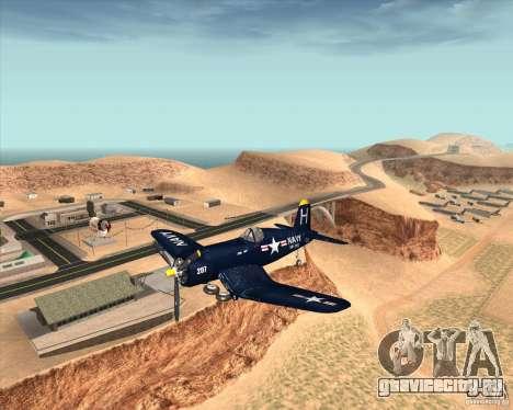 Aereo Corsair F4U1D для GTA San Andreas вид сзади
