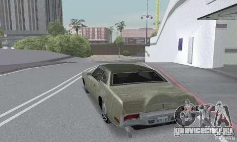 Lincoln Continental Mark IV 1972 для GTA San Andreas вид снизу
