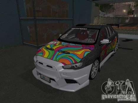 Mitsubishi Evolution X Stock-Tunable для GTA San Andreas вид справа
