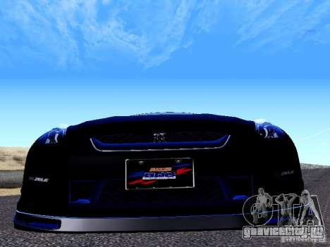 Nissan Skyline R35 Drift Tune для GTA San Andreas вид сзади