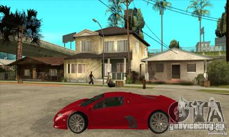 SSC Ultimate Aero Stock version для GTA San Andreas вид слева