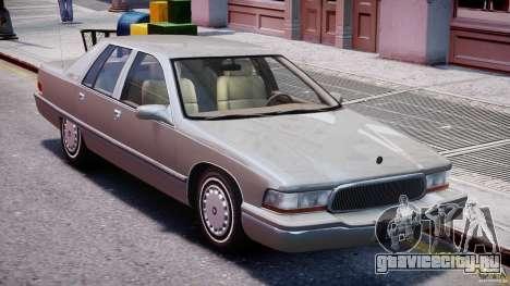 Buick Roadmaster Sedan 1996 v 2.0 для GTA 4 вид снизу