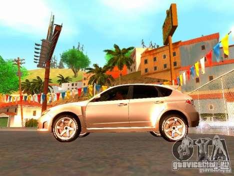 Subaru Impreza WRX STI 2008 для GTA San Andreas вид слева