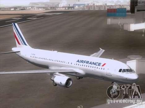 Airbus A320-211 Air France для GTA San Andreas вид справа