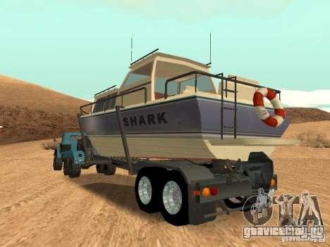 Boat Trailer для GTA San Andreas вид изнутри