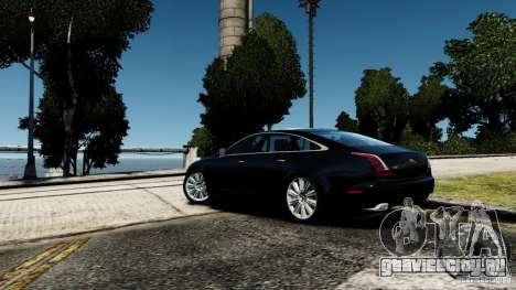 Jaguar XJ 2012 для GTA 4 вид сзади слева
