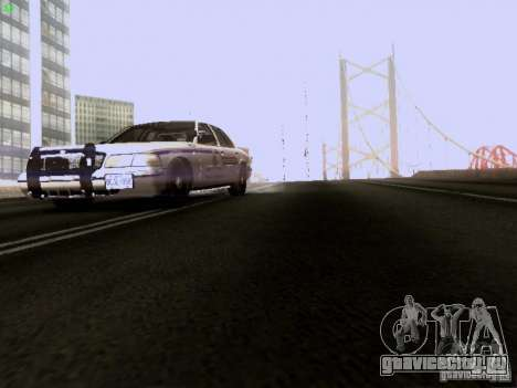 Ford Crown Victoria Canadian Mounted Police для GTA San Andreas вид сбоку
