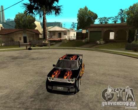 ВАЗ 2106 GTX tune для GTA San Andreas вид изнутри