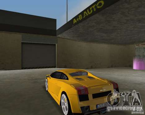 Lamborghini Gallardo v.2 для GTA Vice City вид слева