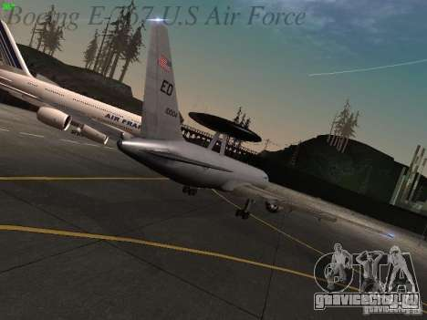 Boeing E-767 U.S Air Force для GTA San Andreas вид сзади