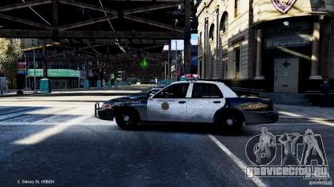 CVPI LCPD San Diego Police Department для GTA 4 вид слева