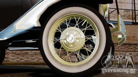 Ford Model T 1924 для GTA 4 вид сзади