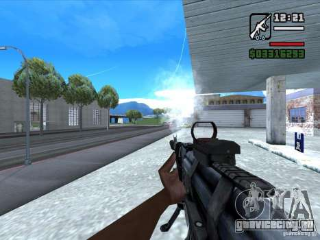 AK-103 из WARFACE для GTA San Andreas третий скриншот