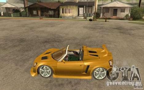 Opel Speedster для GTA San Andreas вид слева