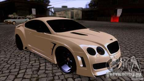 Bentley Continental GT Premier 2008 V2.0 для GTA San Andreas вид сбоку