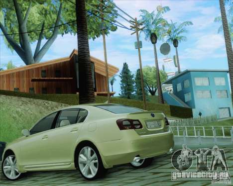 Lexus GS450h 2011 для GTA San Andreas вид слева