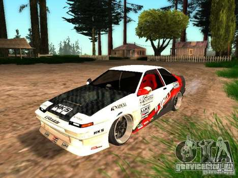 Toyota AE86 Coupe для GTA San Andreas