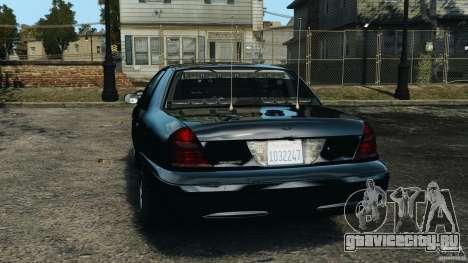 Ford Crown Victoria Police Unit [ELS] для GTA 4 вид сзади слева