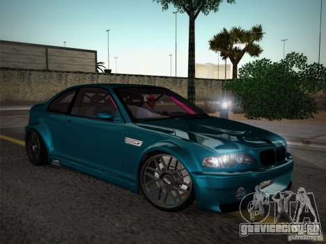 BMW E46 Drift II для GTA San Andreas вид изнутри