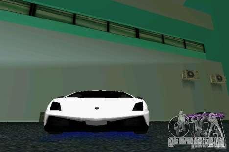 Lamborghini Gallardo LP570 SuperLeggera для GTA Vice City вид изнутри