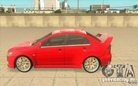 Mitsubishi Lancer Evolution X MR1 для GTA San Andreas вид слева