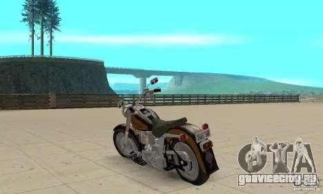 Harley Davidson FLSTF (Fat Boy) v2.0 Skin 3 для GTA San Andreas вид сзади слева