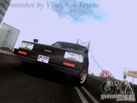 Toyota Corolla TE71 Coupe для GTA San Andreas вид сзади