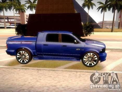 Dodge Ram R/T 2011 для GTA San Andreas вид справа