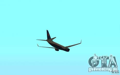 Boeing 737-800 для GTA San Andreas вид изнутри