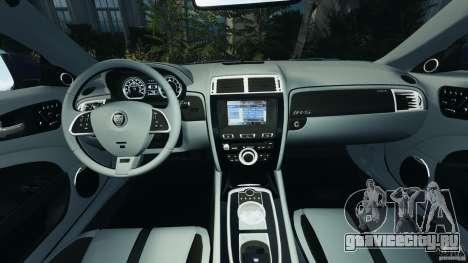Jaguar XKR-S Trinity Edition 2012 v1.1 для GTA 4 вид сзади