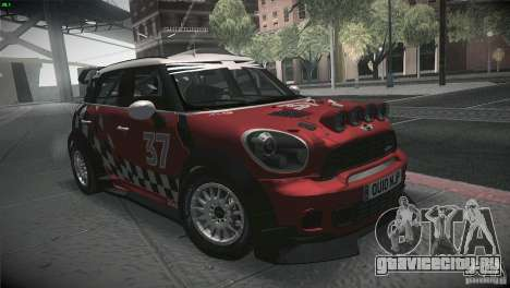 Mini Countryman WRC для GTA San Andreas вид сзади