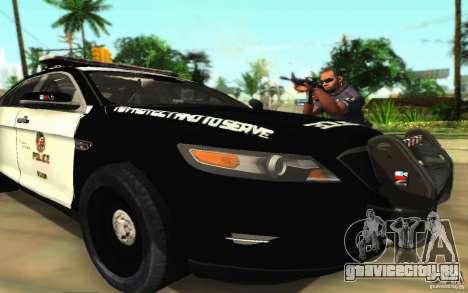 Ford Taurus 2011 LAPD Police для GTA San Andreas вид снизу