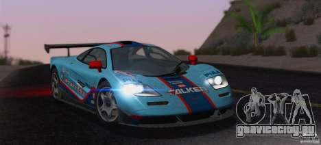 McLaren F1 JGTC Tuning 1995 для GTA San Andreas салон