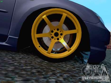 Mazda Speed 3 для GTA San Andreas вид сбоку