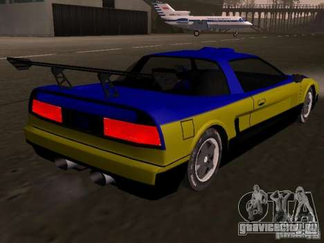 Infernus v 1.2 для GTA San Andreas вид слева