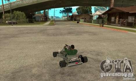 Stage 6 Kart Beta v1.0 для GTA San Andreas вид сзади слева