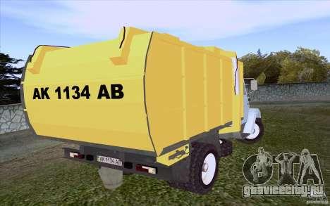 ЗиЛ 4331 Мусоровоз для GTA San Andreas вид сзади слева