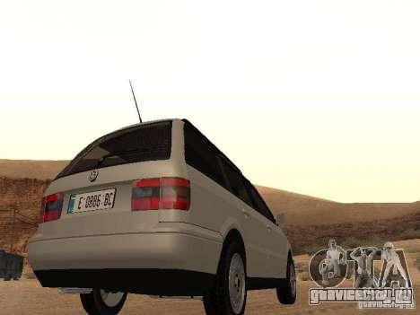 Volkswagen Passat B4 для GTA San Andreas вид сзади