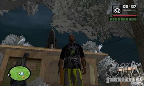 Monster energy suit pack для GTA San Andreas