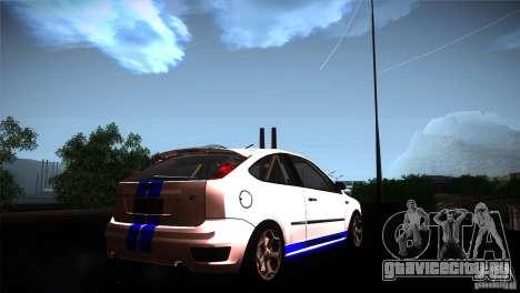 Ford Focus 2 Coupe для GTA San Andreas вид сзади слева