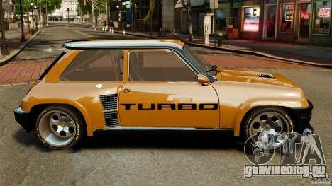 Renault 5 Turbo для GTA 4 вид слева