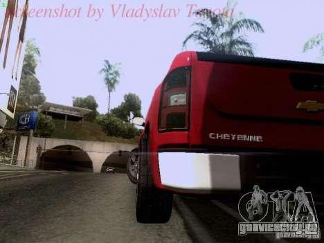 Chevrolet Cheyenne Single Cab для GTA San Andreas вид изнутри