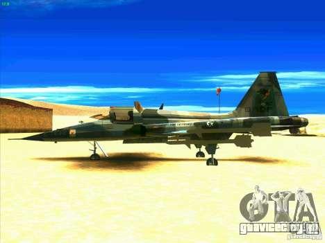 F-5E Tiger для GTA San Andreas вид слева