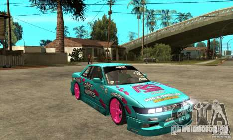 Nissan Silvia S13 Drift Works для GTA San Andreas вид сзади