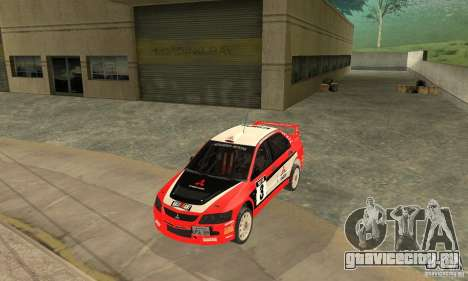 Mitsubishi Lancer Evolution IX для GTA San Andreas вид снизу