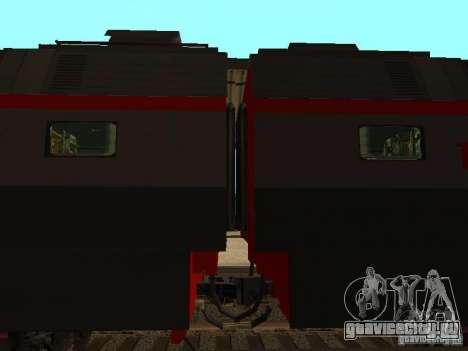ЧС7 233 РЖД для GTA San Andreas вид сзади слева