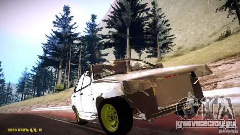 Ваз 21099 Бродяга для GTA San Andreas вид сзади